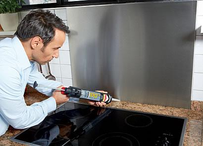 Spritzschutz selbst geklebt - Heimwerken - Heimwerken und DIY ...
