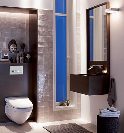 grundstein f rs moderne bad. Black Bedroom Furniture Sets. Home Design Ideas