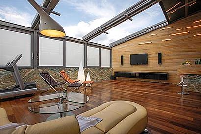 wintergarten mit open air dach. Black Bedroom Furniture Sets. Home Design Ideas