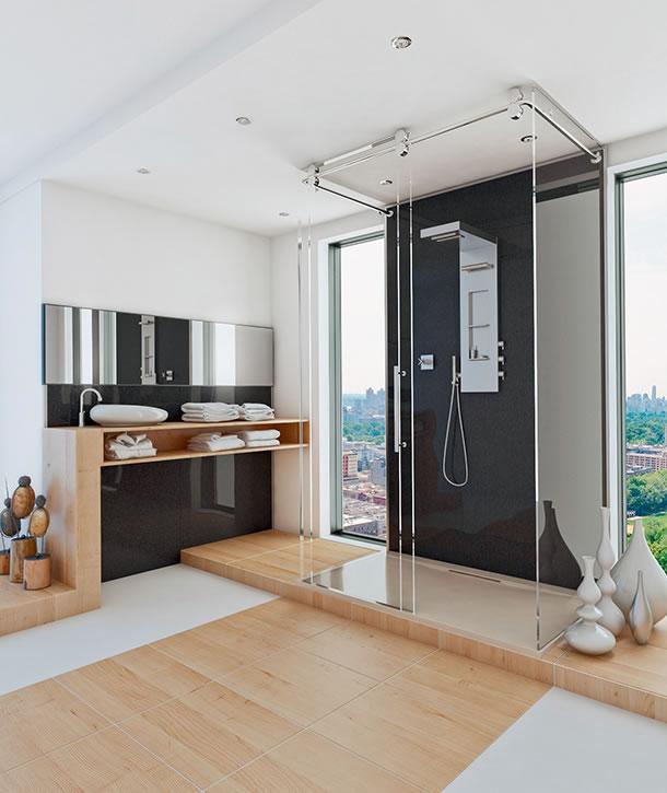 moderner look ohne fugen. Black Bedroom Furniture Sets. Home Design Ideas
