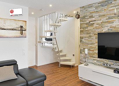 Kenngott 1 m² treppe stufen esche weiß longlife, treppen   metall ...