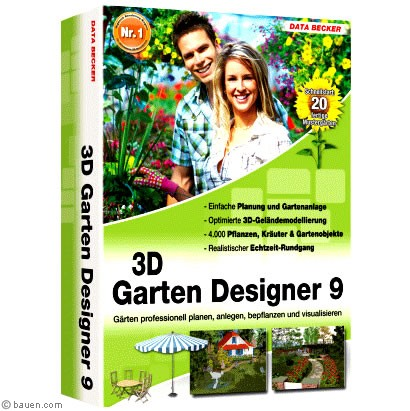 data becker gartenplaner 3d gartenplaner von data becker. Black Bedroom Furniture Sets. Home Design Ideas