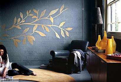 Das Bringt Glamour Ins Haus: Florales Ornament In Edel Schimmerndem ... ➤. Wände  Kreativ Selbst Gestalten ...