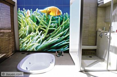 Neues verfahren brennt fotos auf fliesen bad badezimmer dusche und whirlpool ausbau - Fotofliesen bad ...