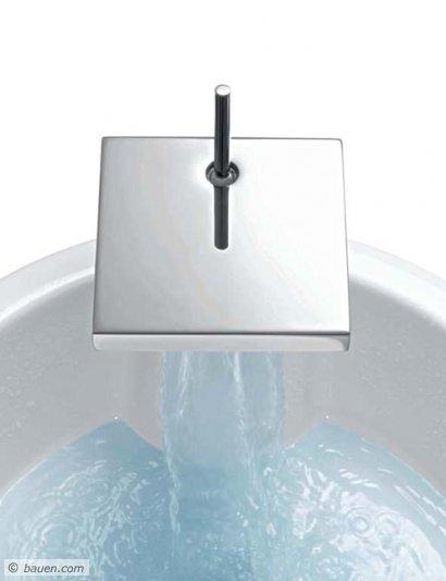 """Design entwickelt sich aus der Funktion der Dinge – eindrucksvoll demonstriert von der """"StarckX""""-Waschtischarmatur. Foto: Axor Hansgrohe"""