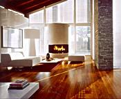 Die Landhausdiele Kirsche Brazil (Jatoba) Provence von Kährs aus extrem hartem Holz wirkt großzügig, lebendig und natürlich. - Foto: Bauwerk / Kährs