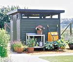 Alles gut verstaut: Das Gartenhaus Verona ist nicht nur schön, sondern auch praktisch. - Foto: Hillhout