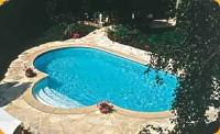 Durch einen pool wird der garten zum naherholungsgebiet foto