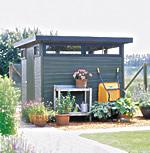 Optisch top durch Design-Profile und Glaselemente: Das Gartenhaus Verona ist ein echter Blickfang - Foto: products4home